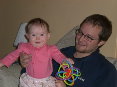 Gwen playing with Daddy